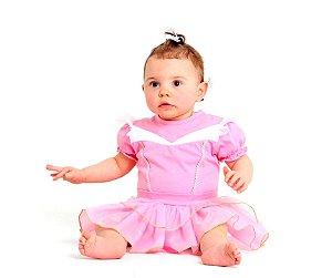 Fantasia Body Princesa Rosa GG 12 meses