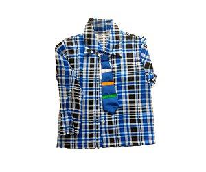 Camisa xadrez Azul Bebê P 3 a 4 anos