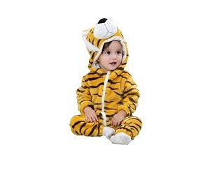 Macacão de Pelúcia Tigre Bebê Tam 24 meses