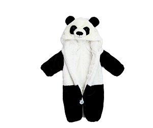 Macacão de Pelúcia Panda Bebê Tam 3 meses