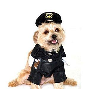 Fantasia de Policial para cachorro tam M