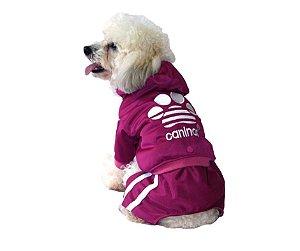 Conjunto Agasalho Caninas Rosa Pet GG