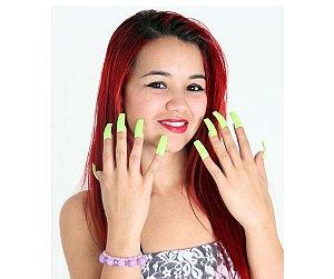 Unhas Verdes Neon 10 unidades