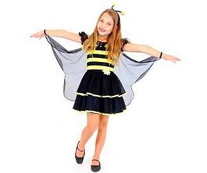 Fantasia Abelhinha  Luxo Infantil tam G 10 a 12 anos