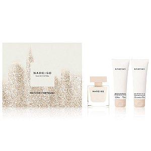 Kit Narciso Eau de Parfum Narciso Rodriguez - Perfume Feminino 50 ML + Hidratante Banho Perfumado 75 ML + Hidratante Corporal 75 ML