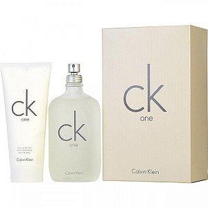 KIT - Calvin Klein Ck One - Unissex - Eau de Toilette - Perfume 200ML + Loção Hidratante 200ML