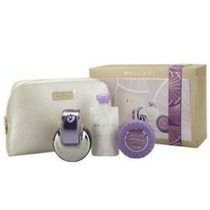Kit Omnia Amethyste Eau de Toilette Bvlgari - Perfume Feminino65 ML+ Hidratante Corporal 75 ML + Sabonete Perfumado + Necessarie