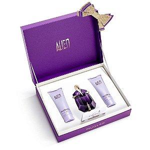 Kit Alien Mugler Eau de Parfum - Perfume feminino 30ML+ Loção Corporal 50 ML+ Gel de Banho 50 ML