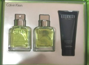 Kit Eternity For Men Calvin Klein Perfume 100ML  + Pós Barba 100ML + Gel moussant 100ML