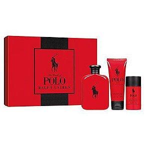 Kit Polo Red EDT Masculino-Perfume 125ml + Shower Gel 100ml + Desodorante 75g -Ralph Lauren