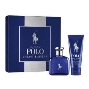 Kit Polo Blue Eau de Parfum Ralph Lauren - Perfume Masculino 75 ML + Hair & Body Wash