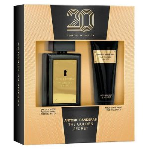 Kit Antonio Banderas The Golden Secret - Perfume EDT - 100ml + Pós Barba 75ml
