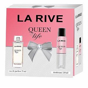 Kit Queen Of Life Feminino Eau de Parfum La Rive - Perfume 75 ML+ Desodorante 150 ML