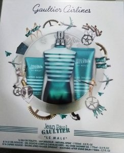 Kit Le Male Masculino EDT Jean Paul Gaultier - Perfume 125ml + Gel de Banho 75ml + Pós Barba 50 ML