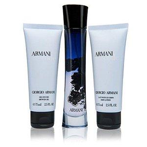 Kit Armani Code EDP Giorgio Armani - Perfume Feminino 75ml + Gel de Banho 75ml + Hidratante Corporal 75ml
