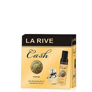 Kit La Rive Cash Woman Eau de Parfum 90 ML + Desodorante de 150 ML