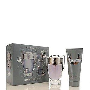 Kit Invictus EDT Paco Rabanne - Perfume Masculino 100ml + Miniatura 10ml + Gel de Banho 100ml
