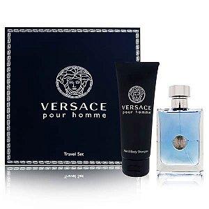 Kit Versace Pour Homme Eau de Toilette - Perfume Masculino 100ML + Gel de Banho 100ml