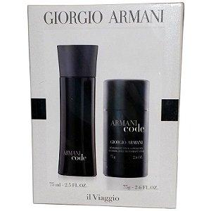 Kit Armani Code Masculino Eau de Toilette Giorgio Armani 75 ml + Desodorante 75g