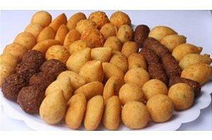 Salgadinhos fritos (100 unidades)