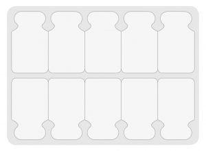 Eletrodo auto-adesivo para uso com clipe tipo jacaré (100 unidades)