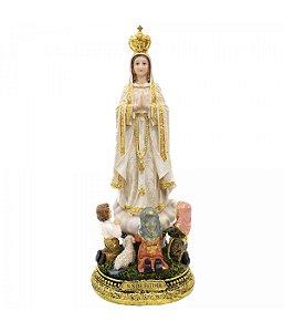 Nossa Senhora de Fátima com Pastores 40 CM