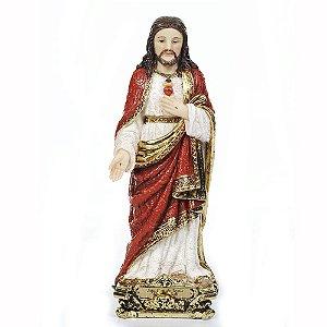 Sagrado Coração de Jesus 20 CM - Estilo Barroco