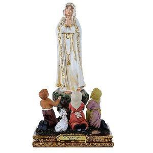 Nossa Senhora de Fátima com Pastores 20 CM