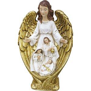 Anjo com Sagrada Família 23 CM