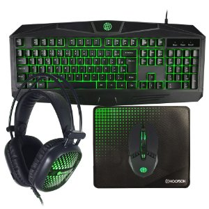 Kit Teclado Mouse Gamer Headset Pad Hoopson TPC-050
