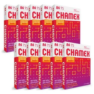 Papel A4 Chamex Office 75g Com 500 Fls