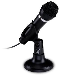 Microfone Maxprint Studio Max, Conexão P2 3.5mm, com Suporte Ajustável