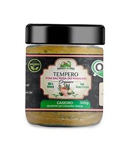 Tempero Orgânico - CASEIRO com semente de coentro verde - 300g