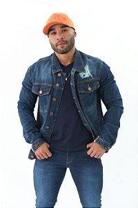 Jaqueta Jeans Masculina Destroyer Henri