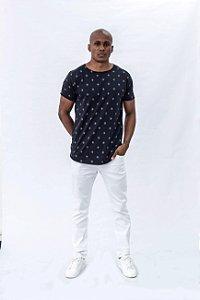 Calça Masculina Cintura media Skinny Sarja branca