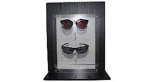 Expositor Vitrine para 5 Óculos em MDF VT01 Preto