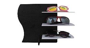 Expositor para 3 Óculos em MDF MAX3MDF Preto