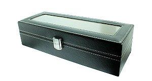 Caixa Expositora para 6 Relógios de Pulso BRX9910 Preta