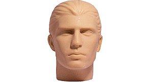 Cabeça Manequim Expositor Masculino sem Maquiagem em PVC E-01 MCS