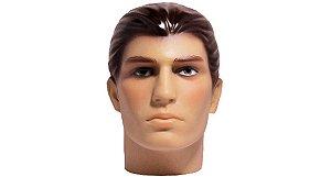 Cabeça Manequim Expositor Masculino Maquiada em PVC E-01 MCM