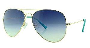 Óculos Solar Aviador Unissex Primeira Linha OC3026 Azul Degradê