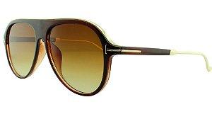 Óculos Solar Unissex Primeira Linha JX8130 Marrom
