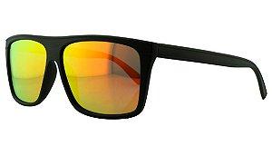 Óculos Solar Masculino Primeira Linha Polarizado P7729 Laranja Espelhado