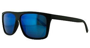 02aab967c105a Óculos Solar Masculino Primeira Linha Polarizado P7729 Azul Espelhado