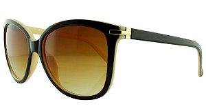 Óculos Solar Feminino 820 Marrom e Bege