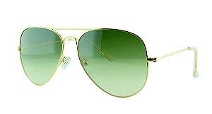 Óculos Solar Unissex Primeira Linha Aviador 3025 Verde Degradê