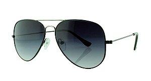 Óculos Solar Unissex Primeira Linha Aviador 3025 Preto Degradê
