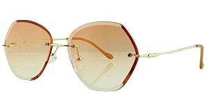 Óculos Solar Feminino Primeira Linha S31173 Laranja Degradê