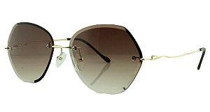 Óculos Solar Feminino Primeira Linha S31173 Marrom Degradê