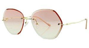 Óculos Solar Feminino Primeira Linha S31173 Rosa Degradê
